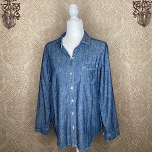 BOGO Old Navy denim long sleeve button up shirt